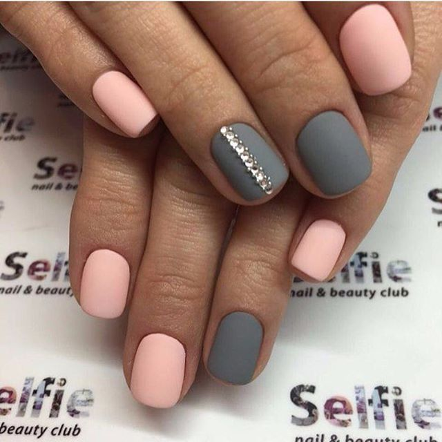 Best 25 instagram nails ideas on pinterest coffin acrylic nails gray pink nails with strass design prinsesfo Gallery