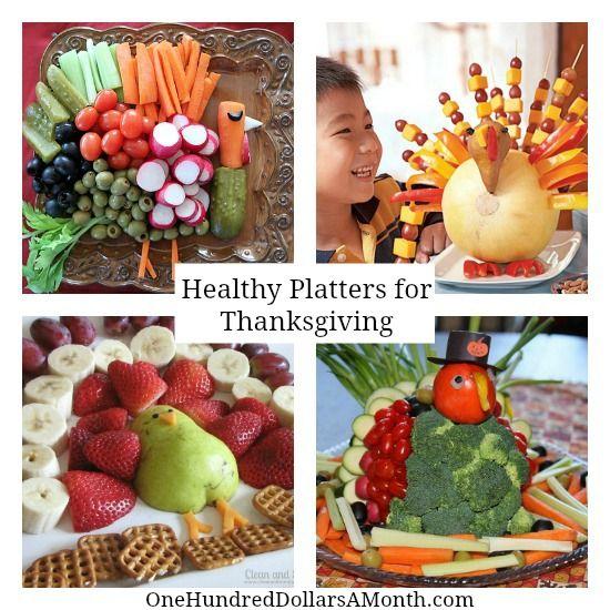 Thanksgiving Turkey Vegetable Platter Ideas