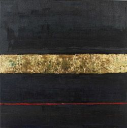 'Red Line' by artist William R. Lawrence. Bid on this dark painting at our Art Auction on April 13th raising funds for the homeless in Toronto! Material: oil on canvas.