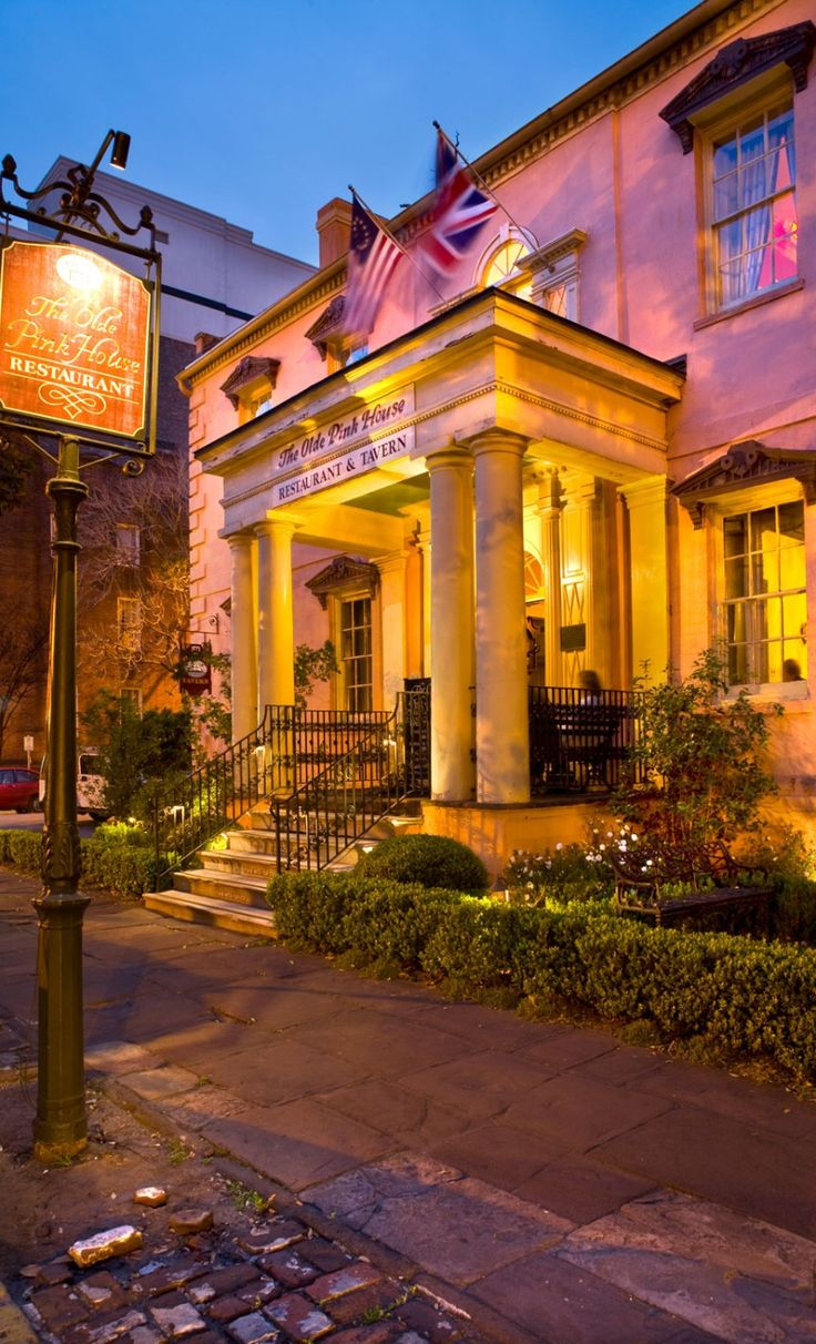 The Olde Pink House at The Planters Inn, Savannah, Georgia.