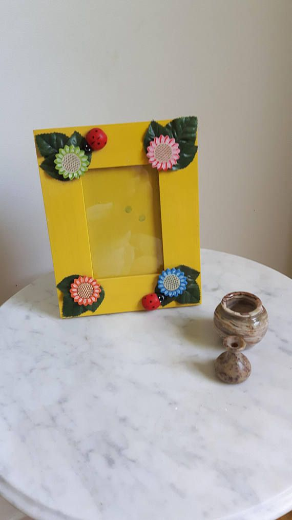 Picture Frame Wood Picture Frame Yellow Picture Frame