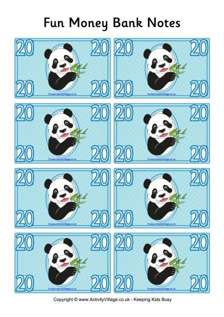 Fun money banknotes 20