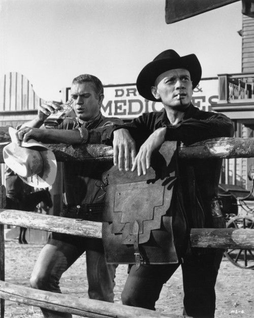 Steve McQueen and Yul Brynner The Magnificent Seven | 1960
