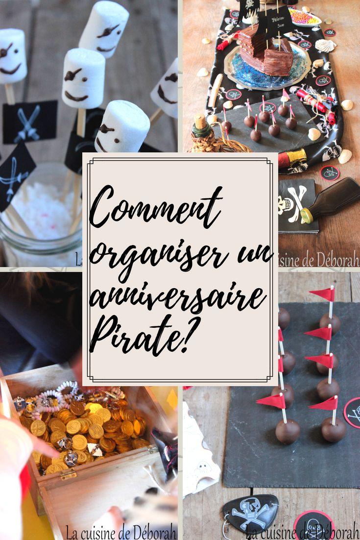 Pirates Fête Décoration Enfants Anniversaire Pirate Deco Set 1 Anniversaire Slogan