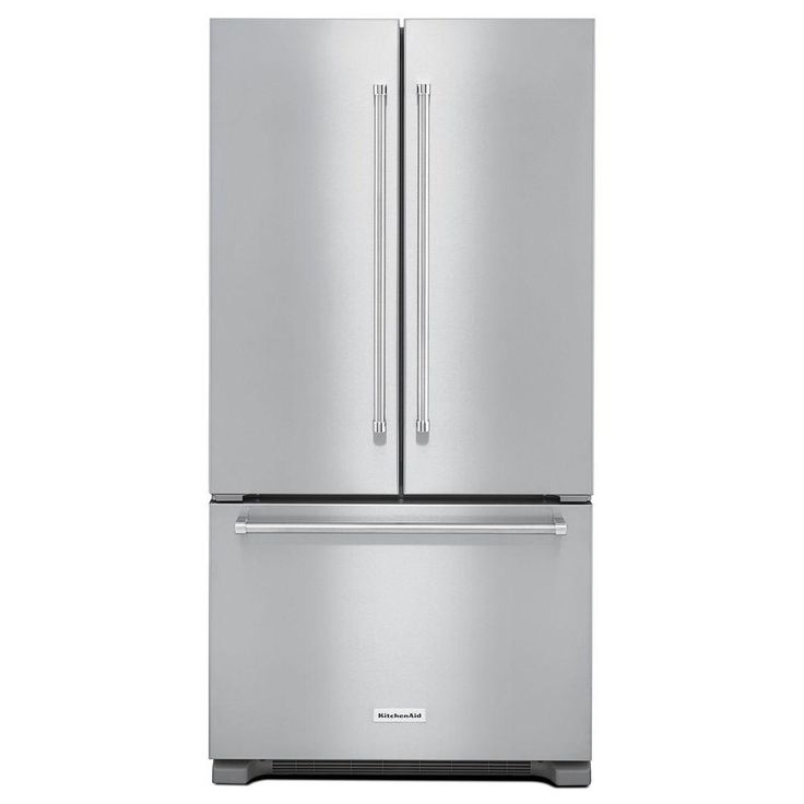 Shop Kitchenaid 21 9 Cu Ft Counter Depth French Door: 17 Best Ideas About Stainless Steel Refrigerator On