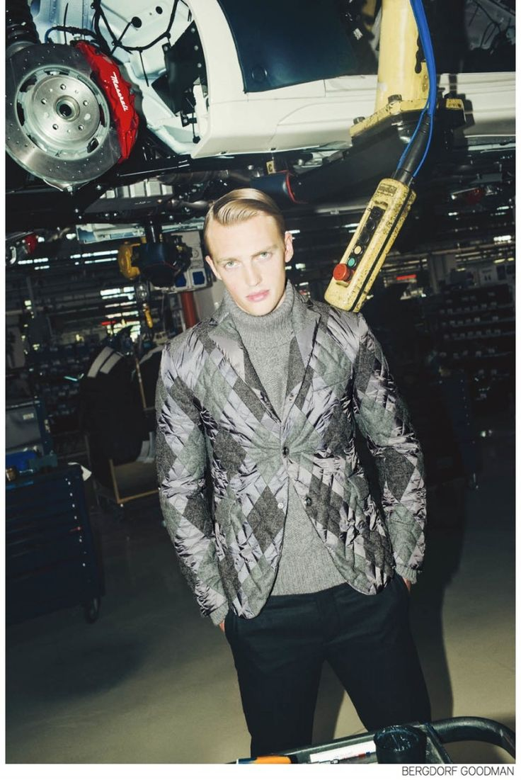 Victor Nylander Dons Fall 2014 Mens Collections for Bergdorf Goodman image Bergdorf Goodman Fall 2014 Menswear Victor Nylander 013 Moncler 800x1197