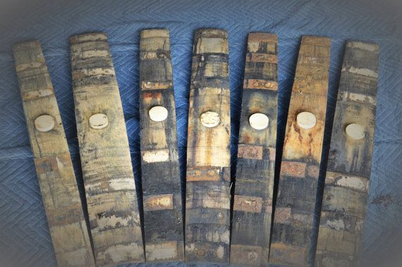 PRICE IS PER STAVE. This listing is for a used whiskey barrel stave with the bung hole and bung from a used Jack Daniels Oak Whiskey Barrel. These are whiskey barrel bung staves from authentic Jack Daniels charred oak whiskey barrels used for aging whiskey. The whiskey is aged