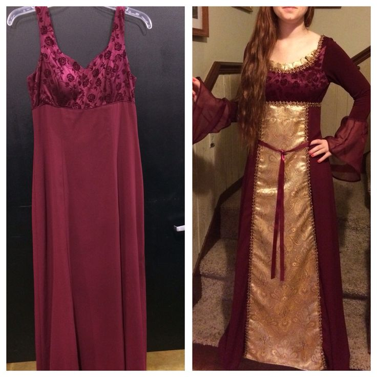 Up-cycled renaissance costume I sewed together from thrift store items. It's what I do and I love it!