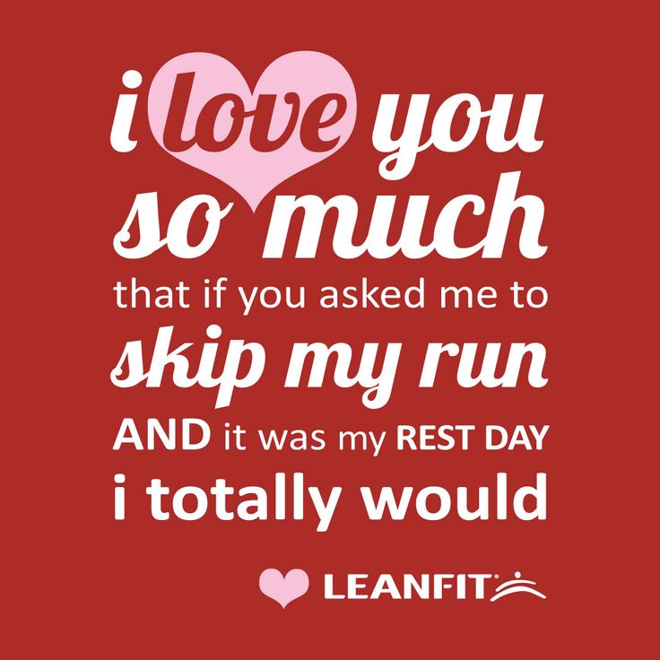 A funny valentine's day card for people obsessed with Running.