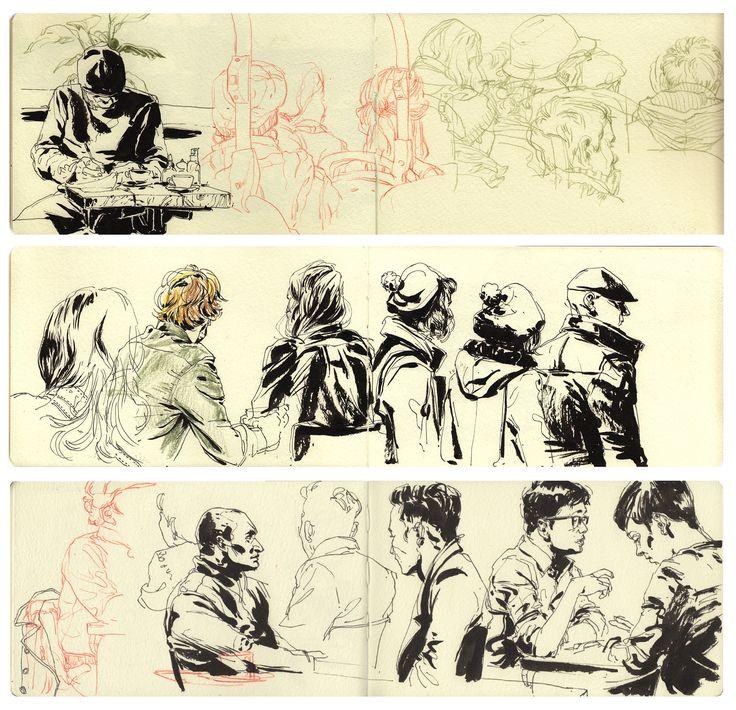 Observational sketches - Rupert Smissen Illustration