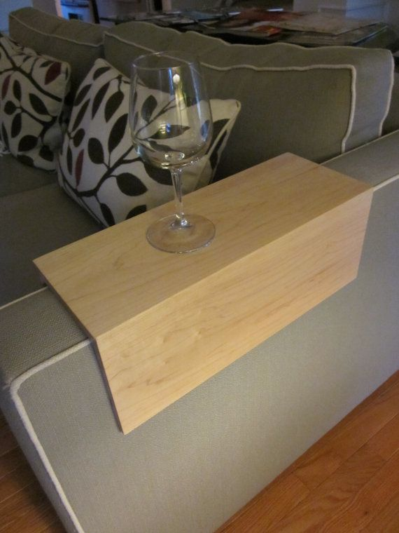 Couch Arm Wrap Solid Maple Wood Sofa TV Tray By KennedyWoodworking, $65.00
