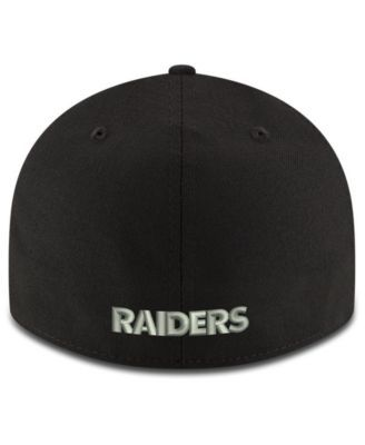 New Era Oakland Raiders Team Basic Low Profile 59FIFTY Fitted Cap - Black 7 1/4