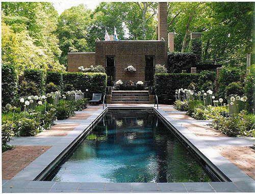 Raycroft/Meyer Landscape Architecture. du Pont Residence. Rockland, De. Lap Pool Garden