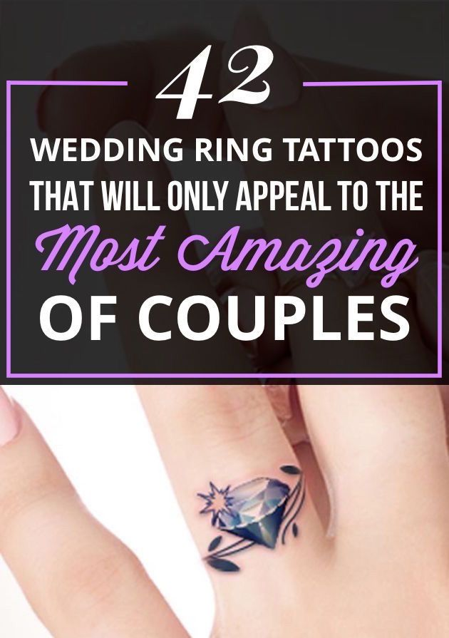 17 Best Wedding Ring Tattoo Ideas Fingers on Pinterest Ring