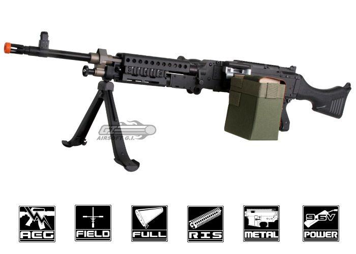 Echo 1 Full Metal M240 Bravo AEG Airsoft Gun by: ECHO 1 - Airsoft GI -