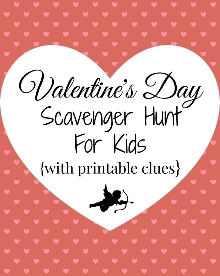 Valentines day scavenger hunt with free printable clues. a Fun family tradition from WunderMom for Valentines day with kids. Valentines day activities