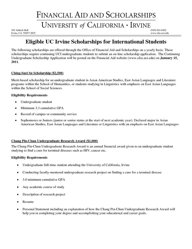 financial need scholarship letter examples