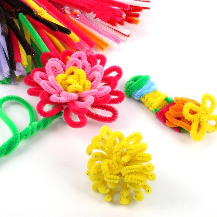 100pcs/set Children's Educational Toys DIY toys materials shilly-stick Plush…