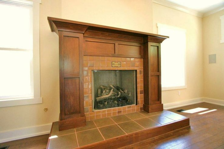Craftsman fireplace fireplace insert surround pinterest for Craftsman fireplaces photos