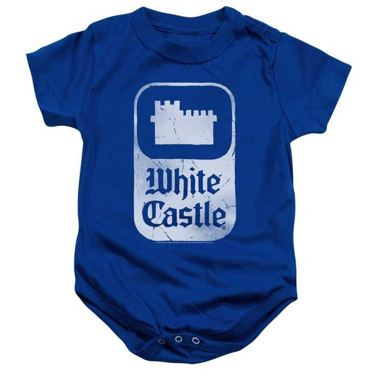 White Castle Classic Logo Infant Snapsuit One-Piece Baby Toddler Fast Food
