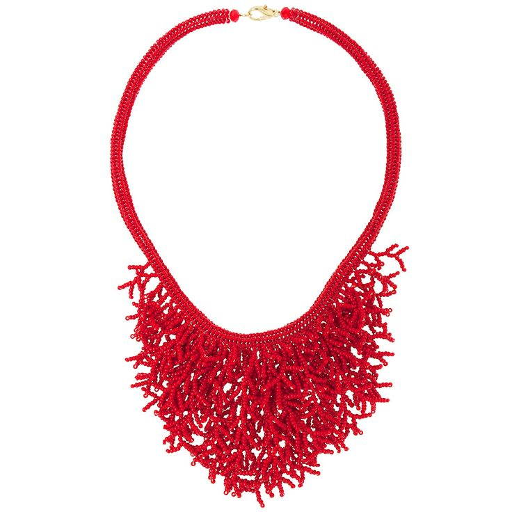 Reef It To Me Necklace - free pdf instructions; Another example of branch fringe. #seed #bead #tutorial
