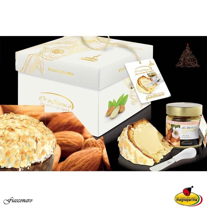Panettone Oro Bianco (1000 g) + mandulakrém + kés