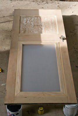 How to add frosted plexiglass to a solid door for a bit of amazing pizazz!