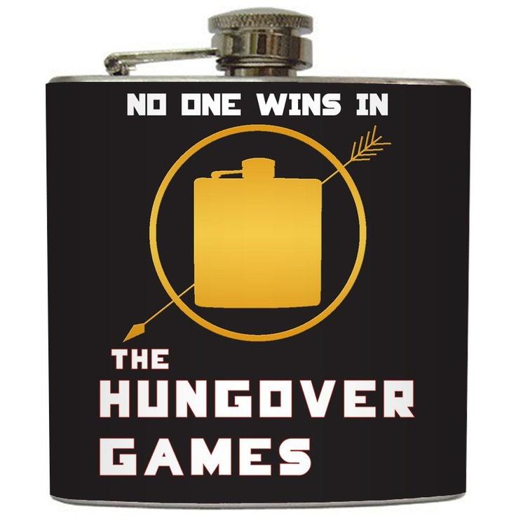 "Liquid Courage Flasks: ""The Hungover Games"" - Vodka Vendettas Tribute Flask"