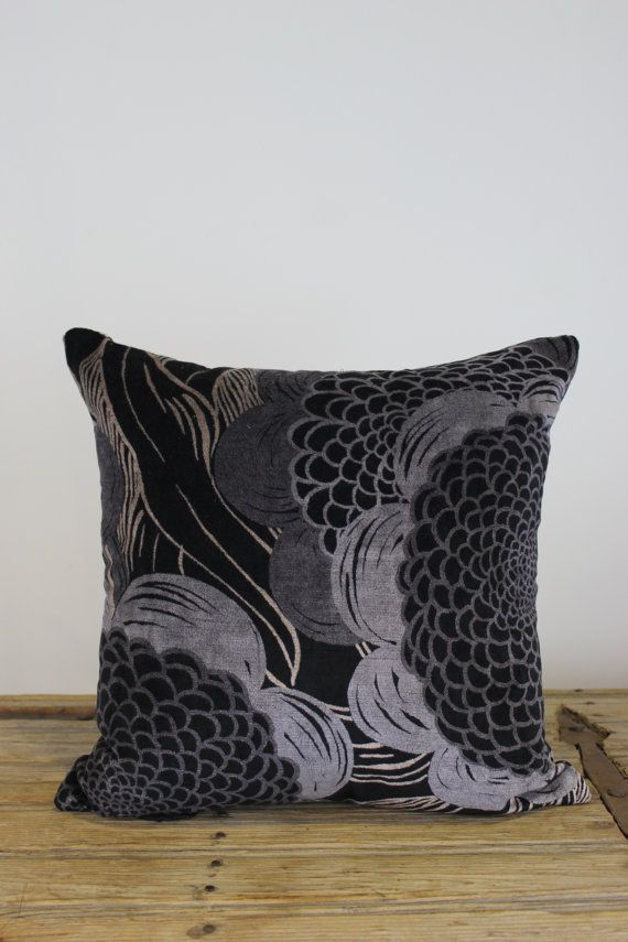 Unique French Velvet One Only Exclusive Design Cushion Cover by Peacock and Penny. 40cms x 40cms