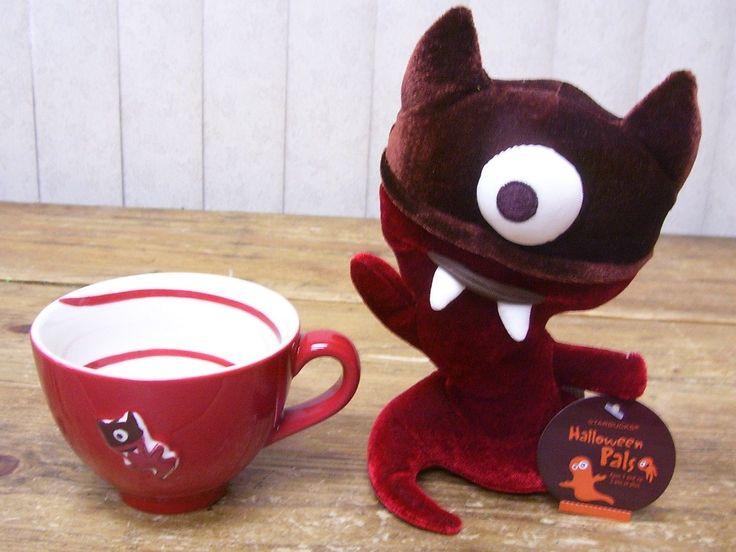 Collectible Starbucks Items: Monster Boo coffee mug & plush Halloween ghoulfrom eBay. #starbucks #halloween