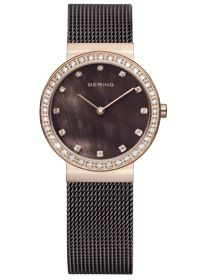 NEW Bering Rose Gold Classic Collection Rosé Case, Sapphire Glass, Mesh Band,