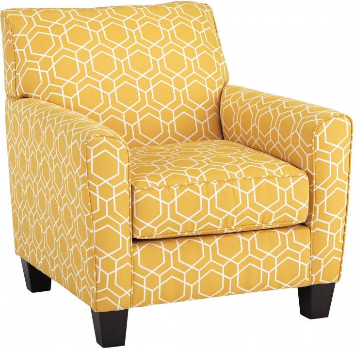 Yellow Gold Accent Chair