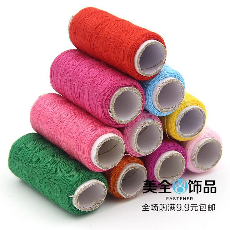 120 m 33 colores de la tela de Poliéster Hilo de Coser Para la Mano y máquina de BRICOLAJE costura blanco negro amarillo verde rosado azul púrpura Z472