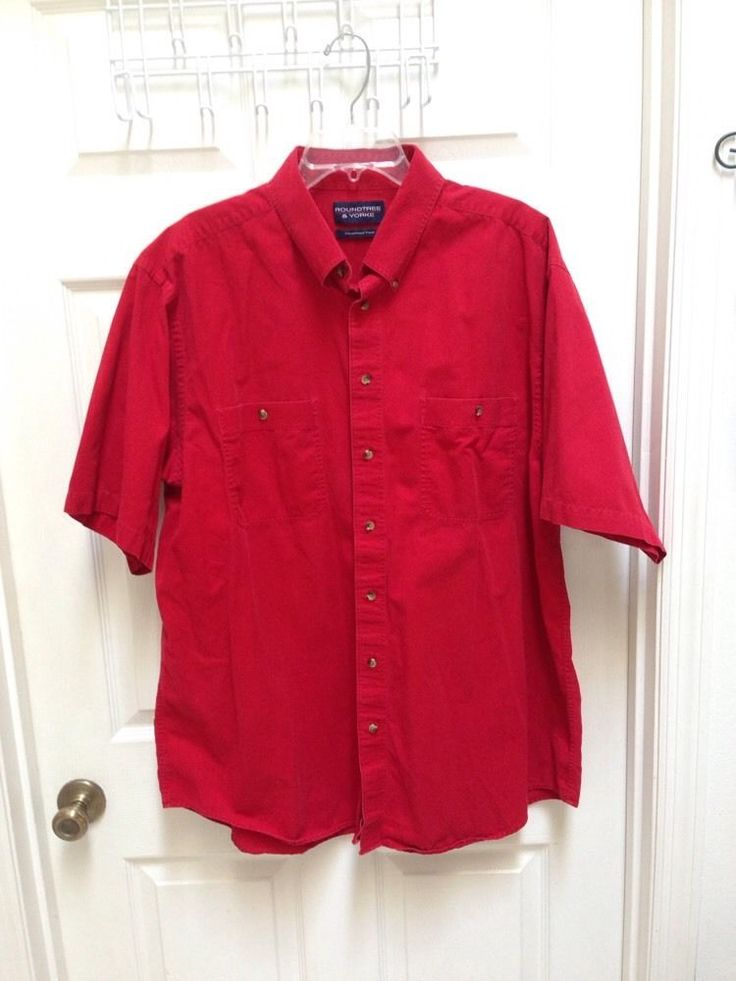 round tree yorke 2xlt tall mens solid red short sleeve