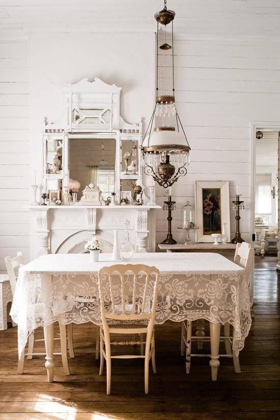textures of white using victorian antiques