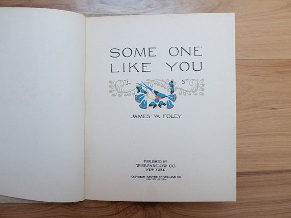 Some One Like You by James W Foley by freshdarling on Etsy