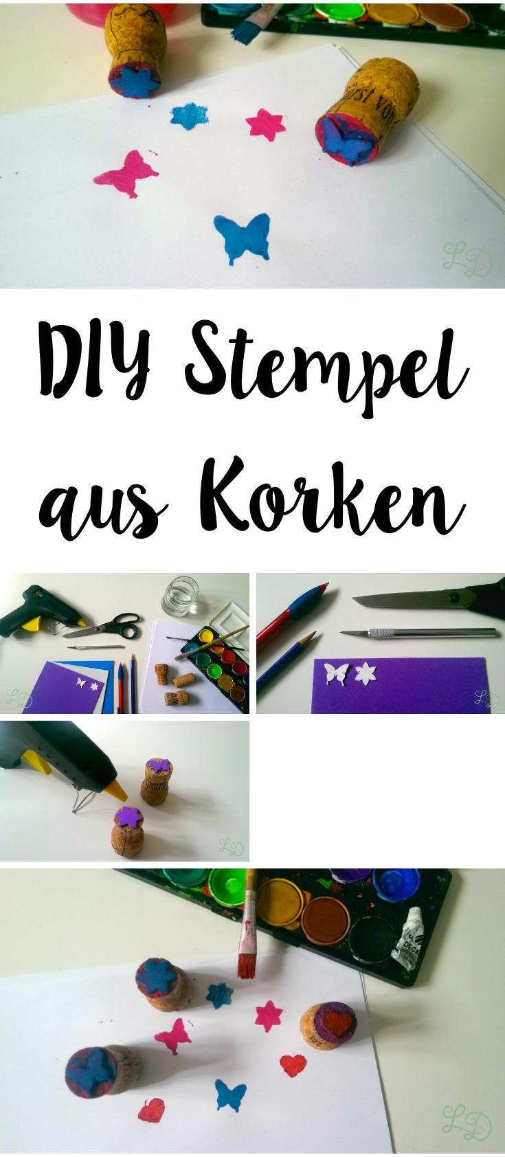 DIY Stamp made of Cork   DIY Stempel aus Kork
