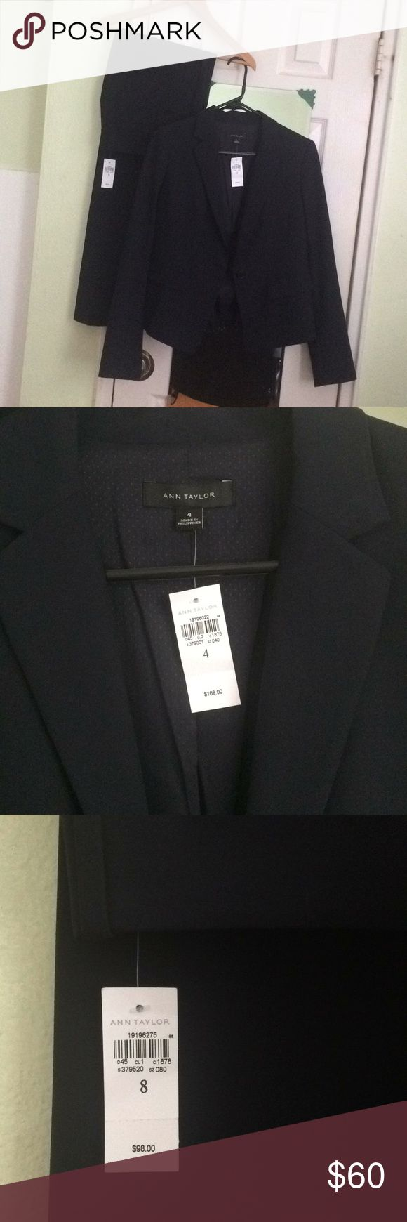 Ann Taylor Navy Pants Size 8 Pants. Good for interviews or business/professional environment. Devin Fit.   Here they are in store:  https://www.anntaylor.com/the-madison-trouser---devin-fit/443388?skuId=23610811&defaultColor=2158&prodId=443388&cid=BRD-AT-G-PLA-Bottoms%7cAT_FP_Bottoms&gclid=EAIaIQobChMIlYDmpo7a1gIViYK9Ch3m-AtXEAkYByABEgLh9_D_BwE&gclsrc=aw.ds  *Suit blazer has sold Ann Taylor Pants Boot Cut & Flare