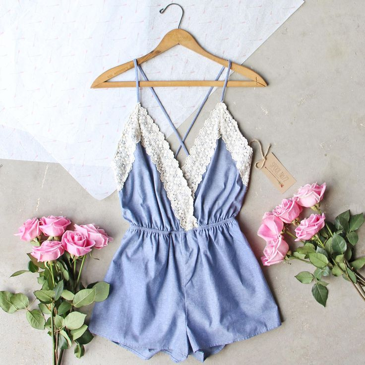 Arrow & Thorn Romper , Sweet Lace Rompers from Spool No.72. | Spool No.72