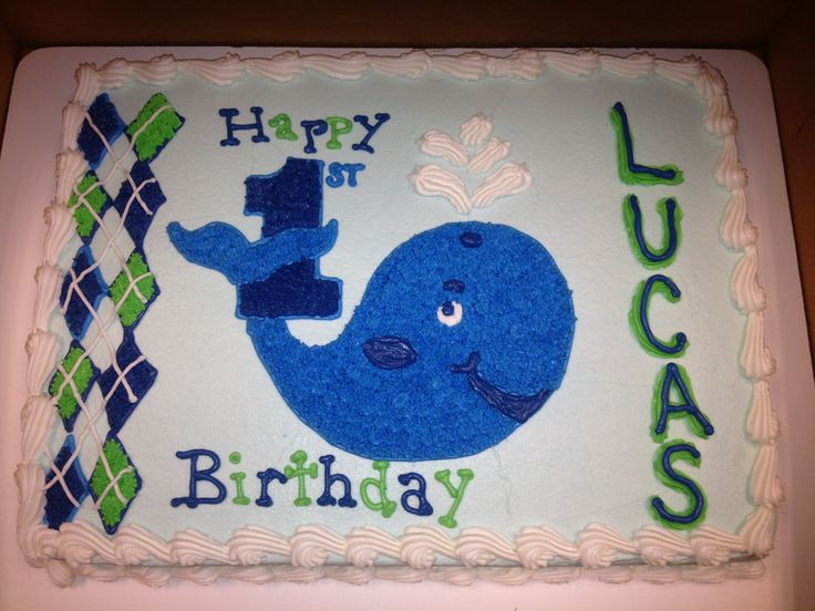 Whale Birthday Cakes | First Birthday Cakes