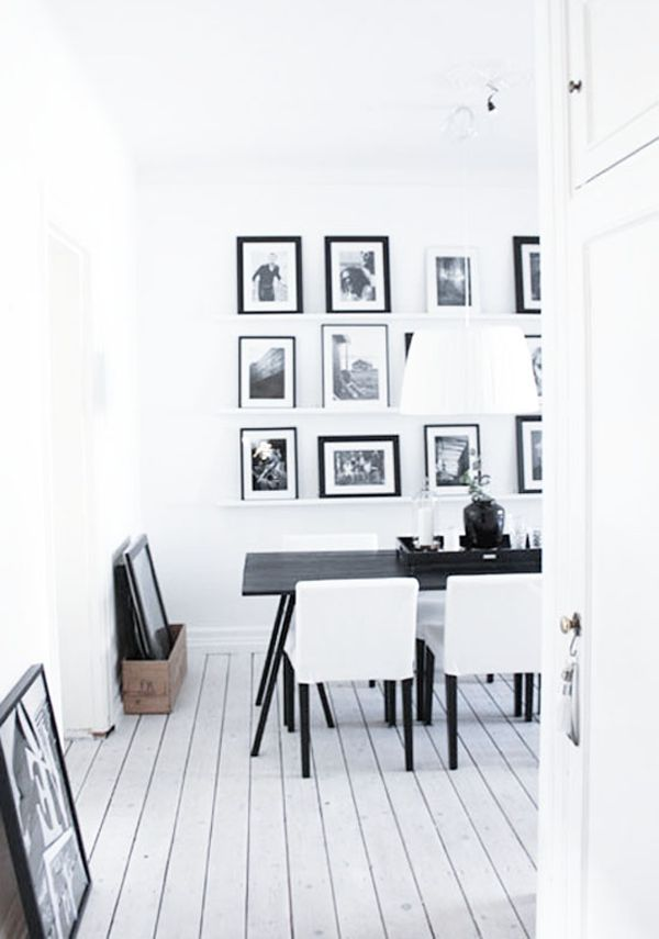Taking a photo from the doorway.  Heart Black & White interior.