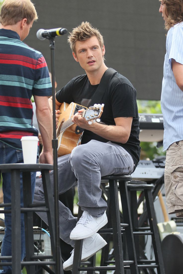 Backstreet Boys heartthrob Nick Carter was rehearsing with the band