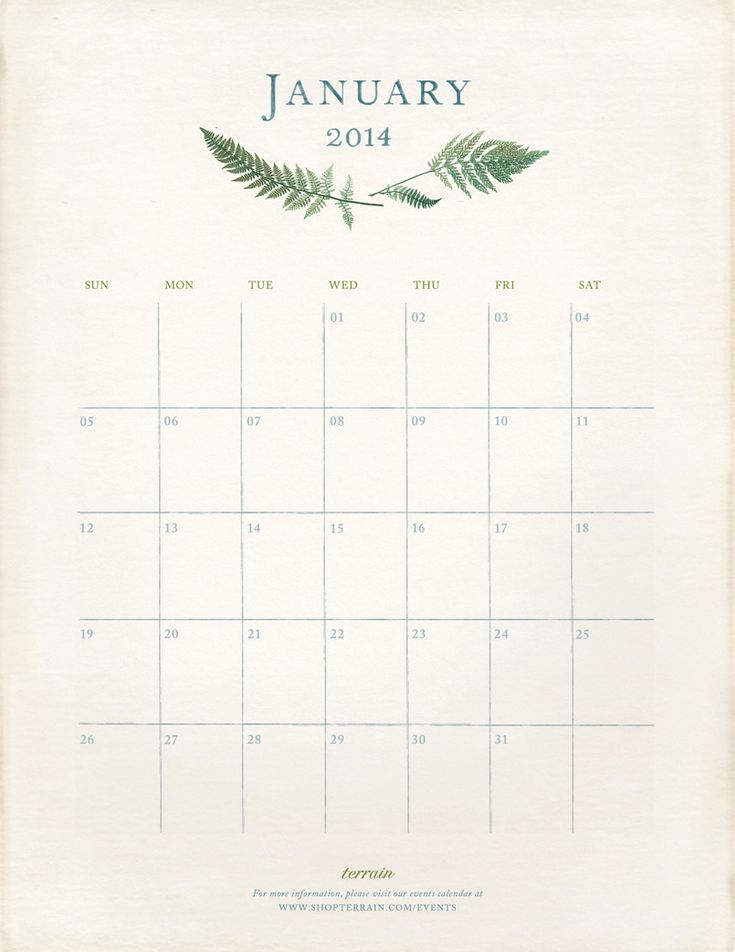 A January Refresh and our printable calendar.