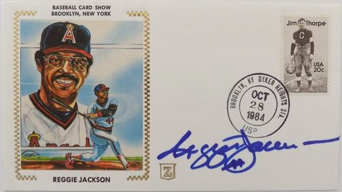 Reggie Jackson California Angels Signed First Day Cover
