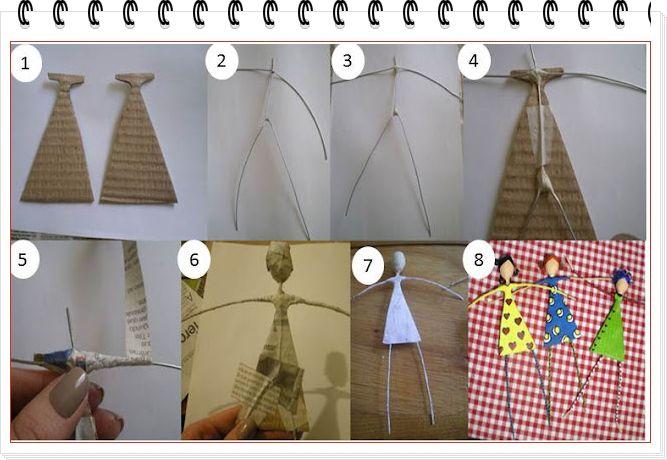enrHedando: Como hacer Figuras Decorativas de Alambre y Carton