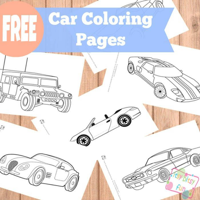 Car Themed Coloring Pages : Car coloring pages kids let s make it let`s do