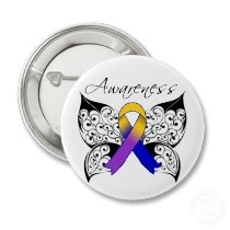 tattoo butterfly awareness interesting idea for a tattoo for cancer awareness with the color. Black Bedroom Furniture Sets. Home Design Ideas