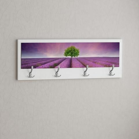 PURPLE FIELD. FUNART coat, clothes hanger. Colorful theme. Easy to mount. 2 years warranty. White, Dark Brown, Black, Orange, Yellow Green colours. Contemporary design piece. Hallway furniture. 70%Off real deals. www.modernfurnituredeals.co.uk