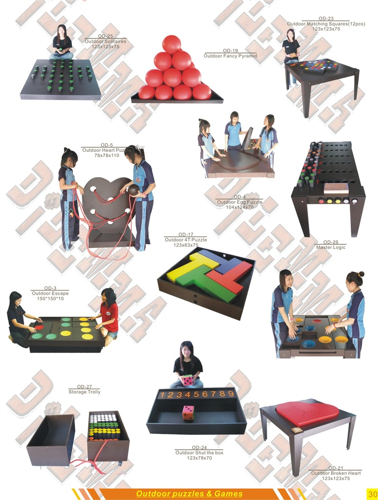 Outdoor Puzzles And Games