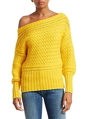 6df9c7c7530d Tanya Taylor Marie Off-Shoulder Wool Sweater
